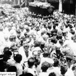 نمایی از مراسم پر شکوه تشییع آیتالله سید محسن حکیم در بغداد