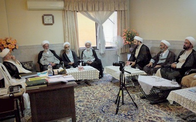 دیدار برخی از علمای مشهد و مدیران «شبکه اجتهاد» با آیتالله مکارم شیرازی