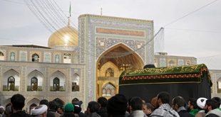 پیکر آیتالله موسوی خلخالی در جوار مضجع شریف امام هشتم(ع) آرام گرفت + تصاویر