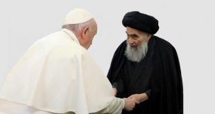 دیدار پاپ و آیتالله سیستانی، حمایت مرجعیت از گفتگو با ادیان بود/ امکان تأسیس قواعد برپایه مشترکات در روابط با ادیان