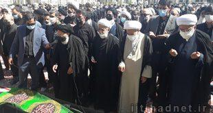 فیلم مراسم تشییع و نماز بر پیکر مطهر علامه فقید استاد محمدرضا حکیمی