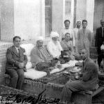 آیت الله العظمی حاج شیخ عبدالکریم حائری دردیدار با وزیر اوقاف کشور یمن در منطقه سالاریه قم